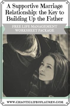 Building up the father figure starts with a supportive marriage relationship. | Christian Motherhood | Christian Marriage | Fatherhood | Marriage Relationship | Strong Relationship | Communication | Supportive Marriage | Unity in Marriage | Raising Kids