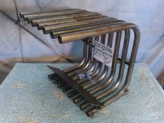 Fanless Fireplace Grate Heater/Heat Exchanger : Raw N Ready Fireplace Fan, Fireplace Grate, Fireplace Design, Metal Projects, Welding Projects, Projects To Try, Stove Heater, Pellet Stove, Wood Stove Cooking