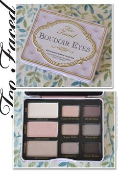 Too Faced Boudoir Eye Palette.  I recently purchased this & I have to say this is one of the most beautiful, wearable, versatile palettes I've ever seen. Every shade is gorgeous & there is enough variety to easily create a casual/day look or a dramatic/night look. Loving this palette! Looks great on all skin tones & compliments any eye color. Retails for $36 & I snagged mine on eBay for less than half price!