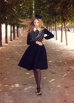 Ella Richards by Gemma Booth for Jalouse October 2012  Stylist: Anna Querouil  Hair and make-up: Anthony Preel