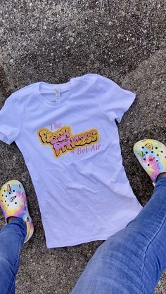 """Who says there can't be a Princess of Bel-Air? Give homage to the OG staple tv show """"The Fresh Prince of Bel-Air"""" while wearing this tee. Fitting: Women's True to Size Tee Ring spun Cotton Swag Outfits For Girls, Cute Swag Outfits, Girly Outfits, Birthday Party Outfits, Birthday Shirts, Birthday Ideas, Prince Shirt, Senior Shirts, 90s Shirts"""