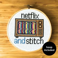 Netflix And Stitch Kit (with hoop)