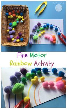 fine motor rainbow activity for preschoolers
