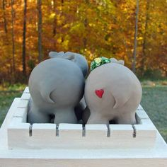 back of cake toppers meant for me. hippo butts!
