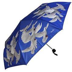Blue and white dove mini umbrella