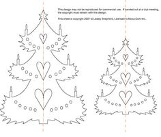Make Cut Out Paper Christmas Trees for Winter Scenes and Christmas Ornaments: Cut Paper Christmas Tree Pattern and Assembly Instructions