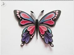 Origami Butterfly Drawing 28 ideeën Quilling Butterfly, Arte Quilling, Quilling Work, Paper Quilling Patterns, Quilled Paper Art, Butterfly Drawing, Origami Butterfly, Quilling Paper Craft, Paper Butterflies