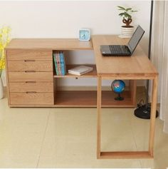 Japanese white oak solid wood furniture stool corner desk computer and a variety of customized table