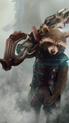 Rocket Racoon. Guardians of the galaxy