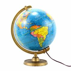 Light up your world with this Plasti-Lite World Globe... This hard-to-find 1939 World Globe will lead you on an adventure to discover the various topography of our world. Just spin the globe to land o