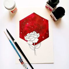 unique watercolor art to try - Galaxy Painting - Step By Step Acrylic Painting Tutorial Galaxy Painting, Galaxy Art, Pencil Art Drawings, Art Drawings Sketches, Watercolor Artwork, Liquid Watercolor, Watercolor Galaxy, Watercolor Illustration, Arte Sketchbook