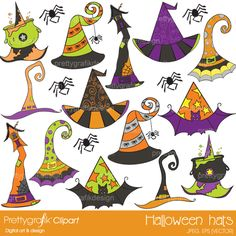 Give your halloween decorations a bit of whimsy fun with 15 eccentric hats.