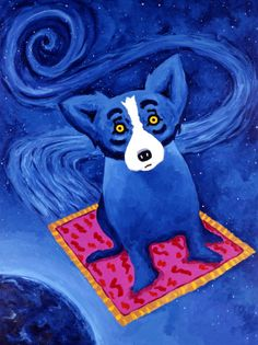 George Rodrigue, his work is all over New Orleans