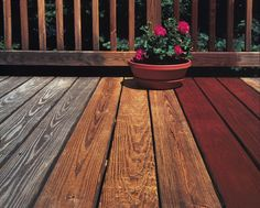 There are two types of surfaces for your deck; colorless and .There are two types of surfaces for your deck; colorless sealants and differently pigmented stains. Both consist of the same basic materials. Cedar Deck Stain, Deck Stain And Sealer, Best Deck Stain, Deck Staining, Wood Stain, Fence Stain, Deck Stain Colors, Deck Colors, Courtyards