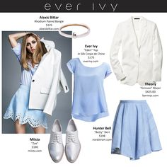 Olivia Palermo looks stunning in all colors, but this sky blue really suits her. #everivyclothing #spring #ss15 #look #style #trend #celebrity #color