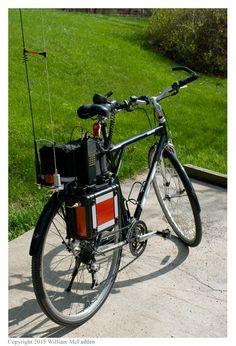 Athens Marathon 2015 bicycle-mobile set-up