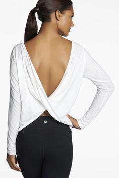 Switch Back Tee / Tee-shirt en blanc - Vêtements de sport Fabletics
