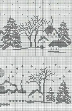 Xmas Cross Stitch, Cross Stitch Alphabet, Cross Stitch Charts, Cross Stitch Designs, Cross Stitching, Cross Stitch Embroidery, Cross Stitch Patterns, Knitting Charts, Knitting Stitches