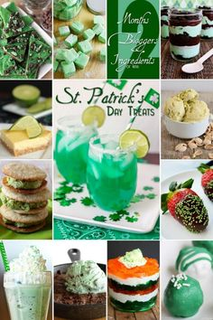 An awesome collection of GREEN St. Patrick's Day Treats!