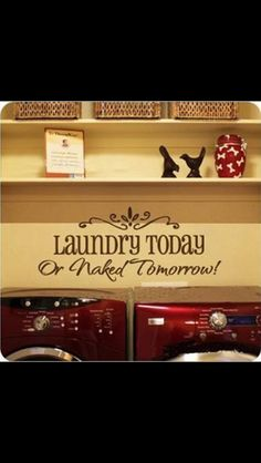 Vinyl Wall Art Vinyl wall decal  Laundry by RyanCustomDesigns, $12.00