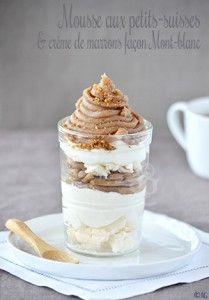 Mousse aux petits-suisses & crème de marrons façon Mont-blanc