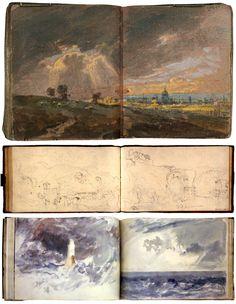 Turner  Gli appunti degli artisti |William Turner (1775-1851), uno dei più prolifici osservatori dei fenomeni naturali, ha riempito di disegni e acquerelli pile di quaderni: opere d'arte che consentono di comprendere a fondo il suo gusto per ogni manifestazione della potenza sublime della natura.
