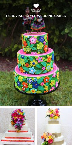 PERUVIAN STYLE WEDDING CAKES - Do you want to stick with tradition, but you are eager to be creative? Go for this Peruvian traditional design cake, decorated with powerful colors in a meticulous way. DIscover more on: www.sayidoinperu.com and follow us on Facebook: https://www.facebook.com/sayidoinperu?ref=tn_tnmn