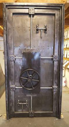 #027ST - Custom Vintage Industrial Vault Door • Industrial Style Décor by Industrial Evolution Furniture Co.