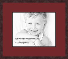 Art to Frames DoubleMultimat50259489FRBW26061 Collage Frame Photo Mat Double Mat with 1  16x20 Openings and Espresso frame -- Click image to review more details. (This is an affiliate link and I receive a commission for the sales)