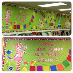 Library Candyland Candy Land Bulletin Board. Could do a life size candy land game.