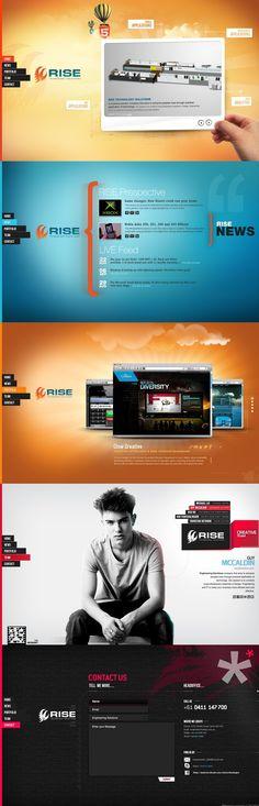 Ideas & Inspirations für Web Designs Rise Technologies Html 5 - some great ideas! Schweizer Webdesign http://www.swisswebwork.ch