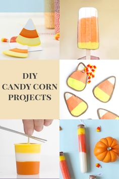 DIY Candy Corn Projects - Party, Desserts, Candy, and Halloween Crafts