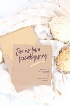 Printable Friendsgiving Invite