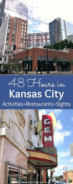 48 Hours in Kansas City Missouri! Fun things to do in Kansas City Missouri including restaurants and food attractions art and murals downtown Power and Light BBQ history and more ideas on a weekend getaway. Great ideas for what to do in Kansas Kansas City Attractions, Kansas City Downtown, Kansas City Restaurants, Kansas City Missouri, Bbq Kansas City, Roadside Attractions, Travel Usa, Travel Tips, Travel Ideas