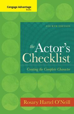 Cengage Advantage Books: The Actor's Checklist -                     Price: $  35.93             View Available Formats (Prices May Vary)        Buy It Now      Based on the Constantin Stanislavki method of acting, THE ACTOR'S CHECKLIST examines Stanislavki's eight principles in an easily understood checklist format. This exciting acting...