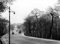 Rochdale Road towards Blackley Village. Boggart Hole Clough on right 1958.