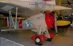 Sparrowhawk at Steven F. Udvar-Hazy Center.  Curtiss F9C Sparrowhawk (1931) was a light biplane fighter aircraft that was carried by the United States Navy airships USS Akron and Macon.