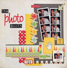colourful photobooth page by madeline
