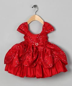 Take a look at the Bijan Kids Red Sequin Pick-Up Dress - Infant on #zulily today!