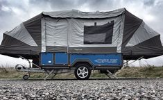 the air OPUS camper goes from trailer to tent in sub 90 seconds Light Travel Trailers, Used Camping Trailers, Camping Trailer For Sale, Mini Camper, Popup Camper, Trailer Tent, Off Road Trailer, Cool Campers, Campers For Sale