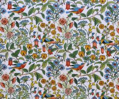 NEW LIBERTY TANA LAWN COTTON FABRIC Catesby - 9x26 green, white background. The Luminaries collection takes its inspiration from the brightest and boldest male thinkers of the Western canon. Here, traditional paisleys and florals are meticulously translated into a palette of richly dandyish shades, with a timeless yet intrinsically forward-looking appeal. Look out for witty design details, such as patterns of wildly blooming blossoms for Rousseau and intricately schematised fronds for…