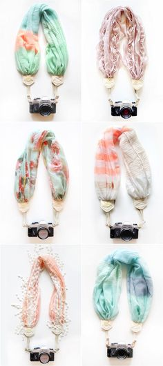 Beautiful camera straps.