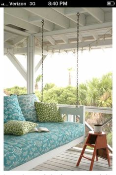 Wide porch swing bed