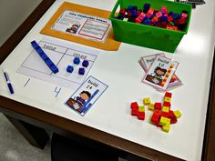 Math Centers- lots of examples, a video, and pictures
