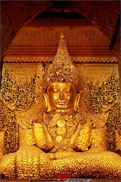 Gold Buddha in Mandalay Myanmar