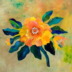 Masterful floral applique from Jane Townswick. From the book Artful Applique II.