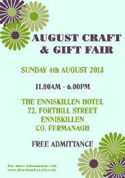 Fair, Enniskillen, 4th August. 4 August, Event Organization, Craft Gifts, Events, Crafts, Free, Kid Craft Gifts, Manualidades, Handmade Crafts