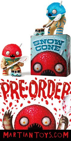 Jason Limon Martian Toys - Online pre-order announced for Abominable Snow Cone vinyl figures!!!