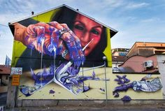 Street Wall Art, Expo Milano 2015, Italy Street, Amazing Street Art, Park Art, Graffiti Wall, Street Artists, Urban Art, Art Forms