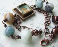 ❥ ice resin bead bracelet